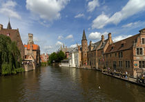 Quay of the Rosary, Bruges, Belgium.  by Louise Heusinkveld