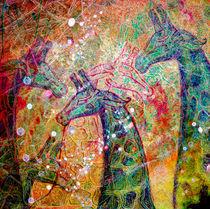 iridescent giraffes by Evgeniya Kuleshova