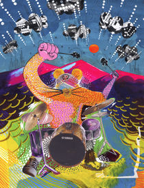 Rat drummer by Yoh Nagao