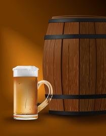 beer mug and barrel by Miro Kovacevic