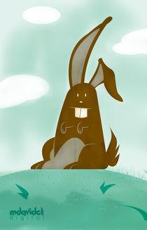 Brown Rabbit in the Hill von mdavidct