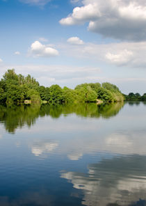 LAKE REFLECTION dinton pastures lakes and nature reserve reading berkshire uk von Andy Smy
