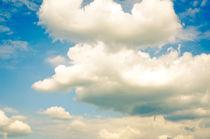 SUMMER SKY blue sky white clouds von Andy Smy