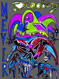 NEVER disobey_Blue and green von dave-dz