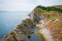 WEST LULWORTH LAGOON the natural lagoon behind the jurassic cliffs west of lulworth cove dorset von Andy Smy
