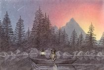 Canoeing into the Night von Lisa Hamilton