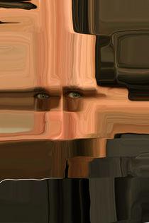 Kopf - abstrakt - Quadrate - Poster von Jens Berger