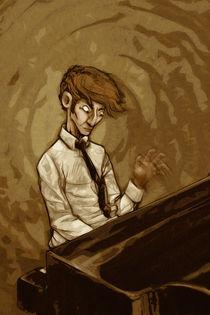 Man at the piano by Tony Draws
