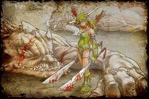 Lady Fight von Tony Draws