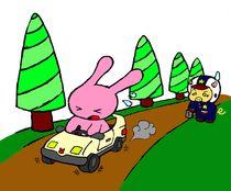 The Bunnie Loves Pigs von John Siy
