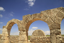 Judean Mountains, the ancient Synagogue of Susya by Hanan Isachar