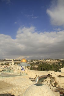 Jerusalem Old City, a view of Temple Mount from the Jewish Quarter