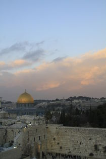 Jerusalem, a view of the Western Wall and the Dome of the Rock  by Hanan Isachar