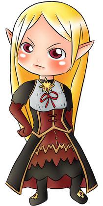 Chibi Vampire-Elf Queen by haruzato