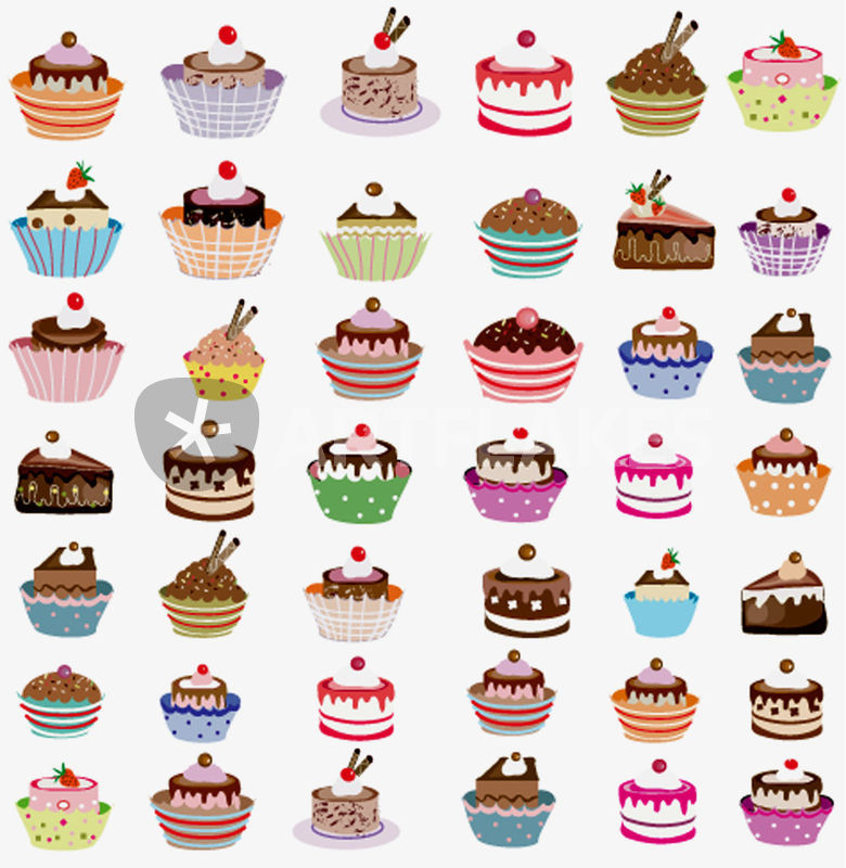 cup cake graphic illustration art prints and posters by meri