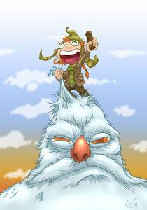 Boy riding Yeti! by Tony Draws