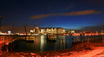 Boston Skyline at twilight - Boston Skyline in der Dämmerung by temponaut