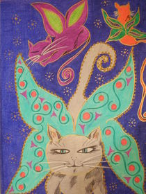 Lulu in cats heaven by Diana YOGA