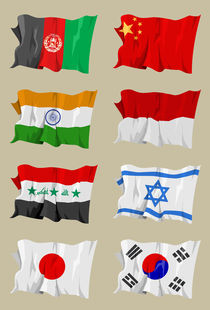 Eight Asian flags von William Rossin