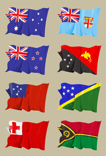 Eight Oceanic flags von William Rossin