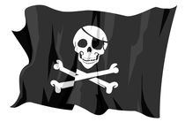 Jolly Roger - Pirates flag von William Rossin