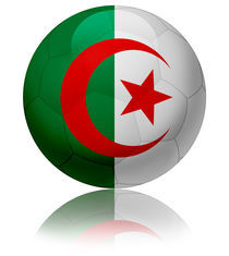Algeria flag ball by William Rossin