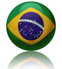 Brazil flag ball by William Rossin