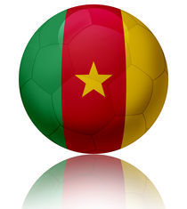 Cameroon flag ball by William Rossin