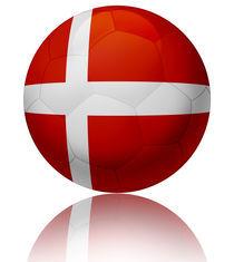 Denmark flag ball von William Rossin
