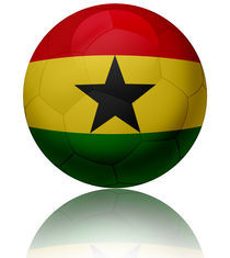 Ghana flag ball by William Rossin