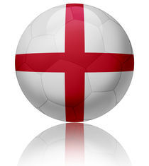 England flag ball von William Rossin