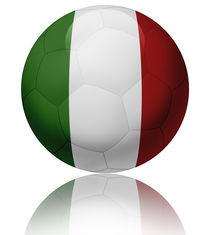 Italy flag ball by William Rossin