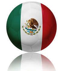 Mexico flag ball by William Rossin