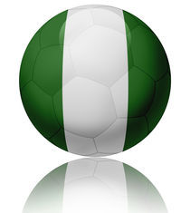Nigeria flag ball by William Rossin