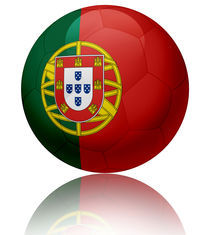 Portugal flag ball von William Rossin