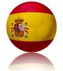 Spain flag ball by William Rossin