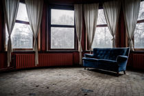 Blue sofa, red room by Marc Duiker