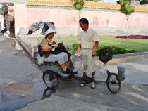 Rikschafahrer in Beijing von Hermann Bauer