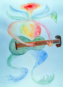 Wasserpflanze spielt Gitarre by Hermann Bauer