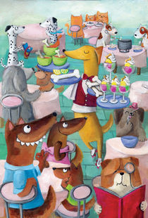 Dogs Cafe by Monika Suska
