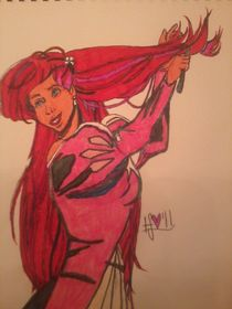 Ariel Using Her 'Comb' by Heidi Schumacher