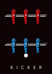 Kicker rot/blau von kickerposter