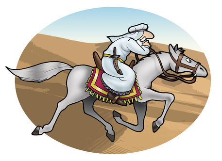 Arabian-cavalier-in-the-desert