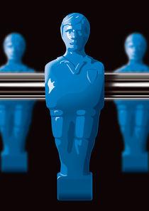 Kickerspieler blau von kickerposter