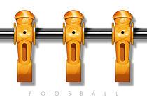 Foosball player yellow team von kickerposter