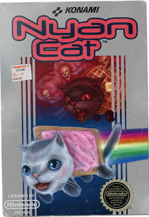 Vintage Konami Nyan Cat Video Game von J.R.  Barker
