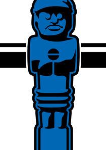 Kicker blau by kickerposter