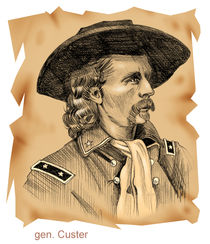 Historic portraits collection: General Custer by William Rossin