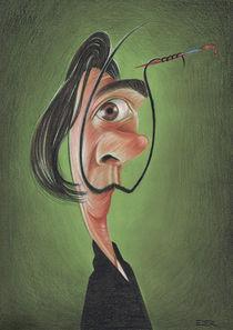 Dali caricature by Eder Galdino