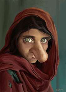 Afghan girl caricature von Eder Galdino